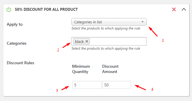Discount Description
