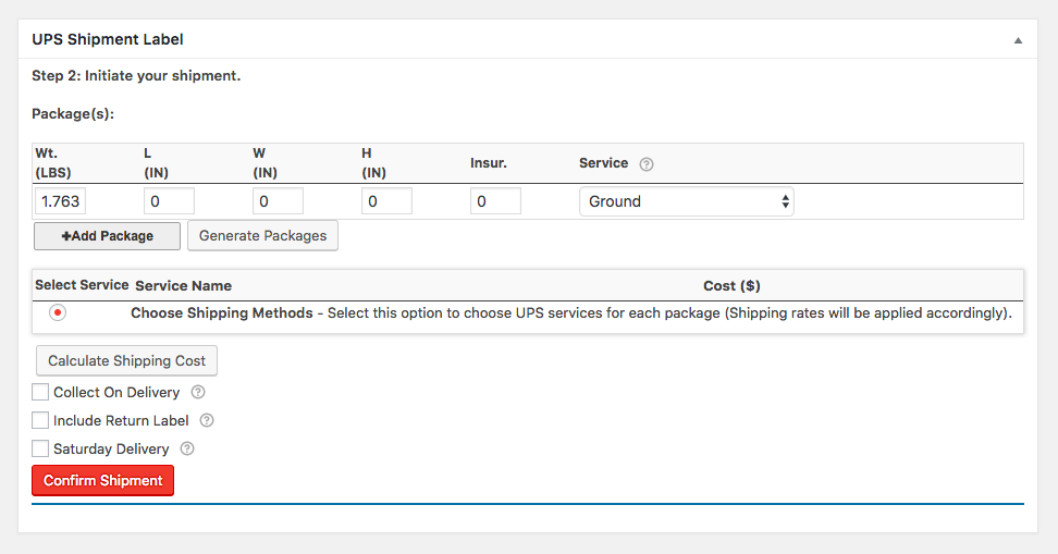 Configure and Automatically Print the Shipping Labels