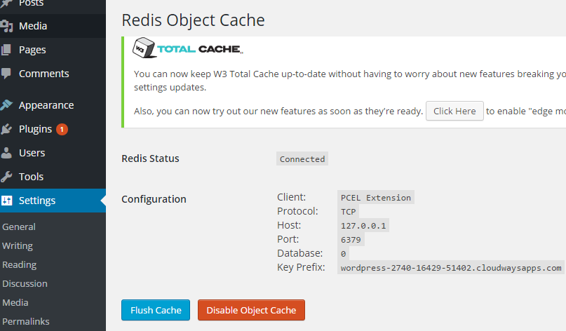 Enable Object Cache