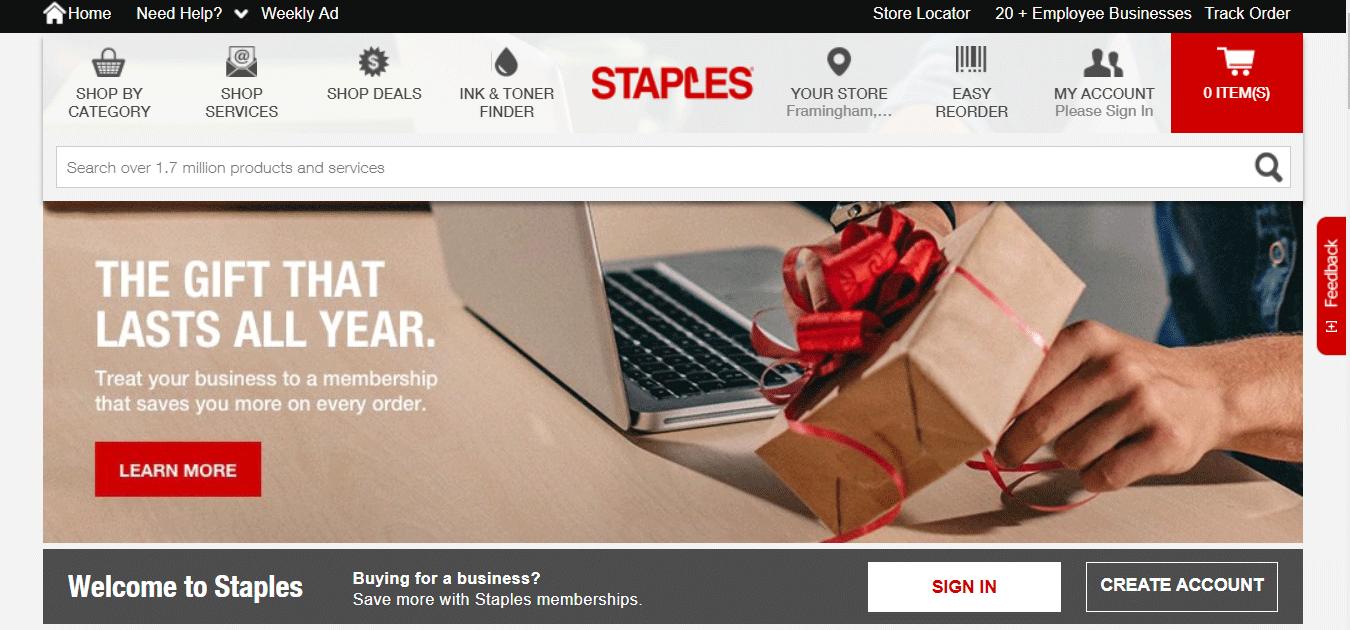 Top Ecommerce Site - Staples