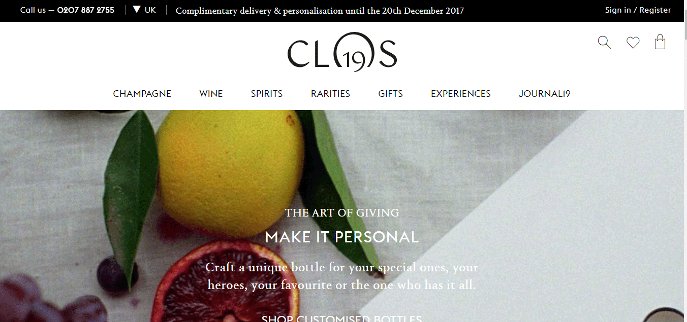 Top Ecommerce Site - Clos19