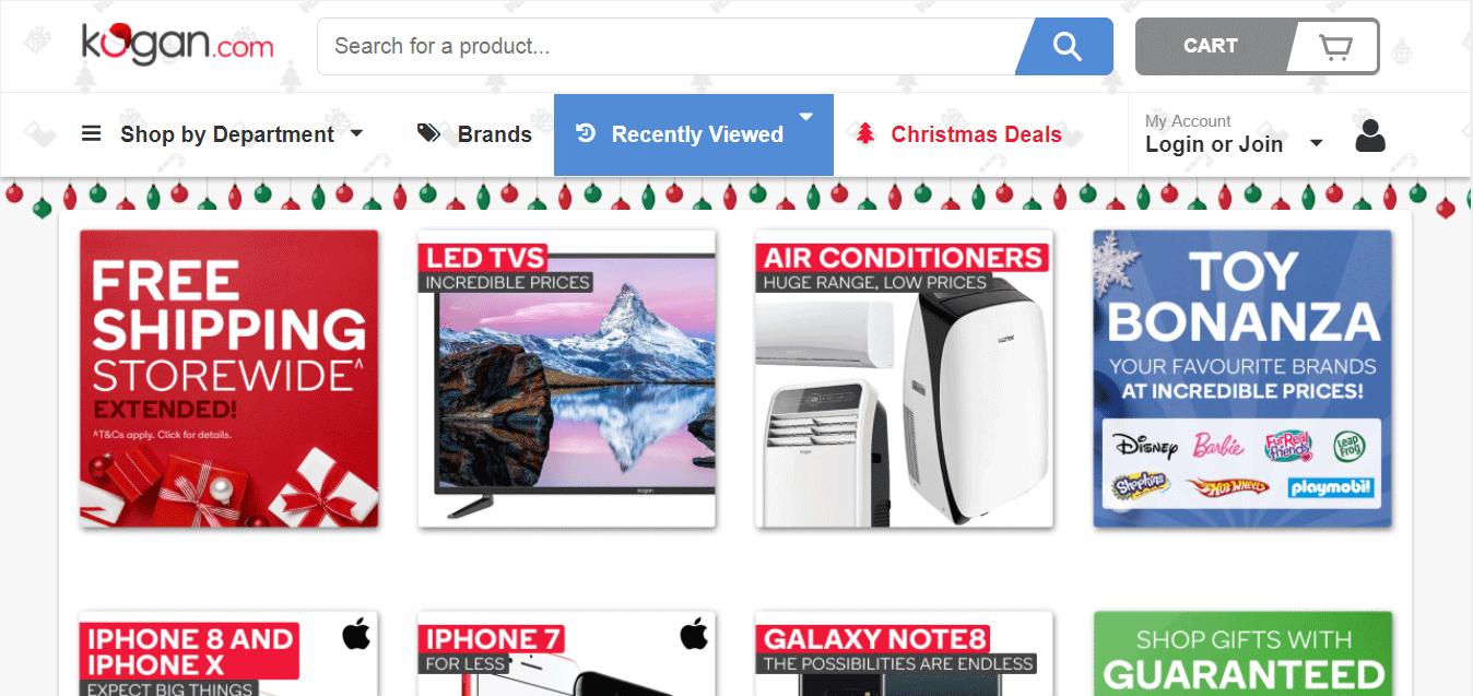 Top Ecommerce Site - KOGAN