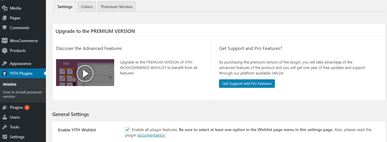 WooCommerce Wishlist Installation