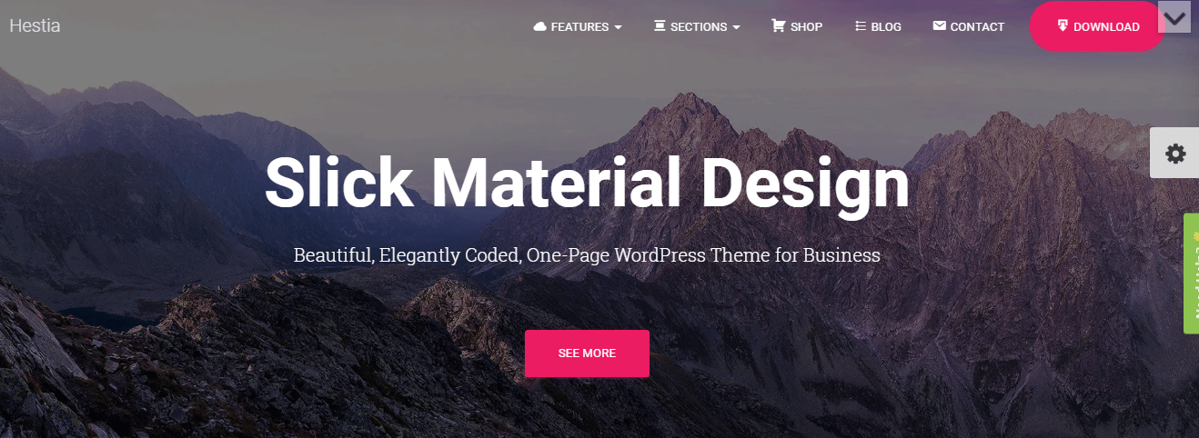 Hestia small business wordpress theme