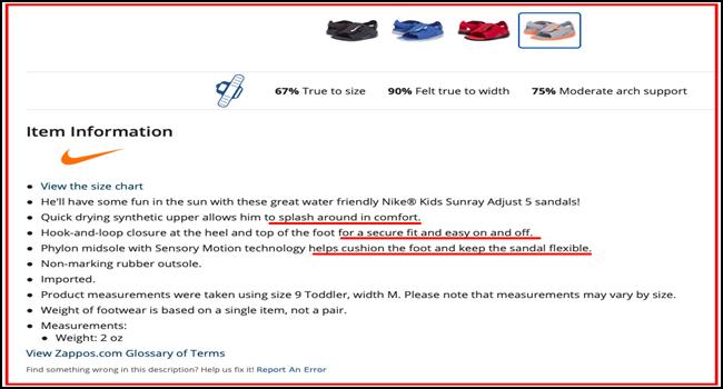 Product description of Nike