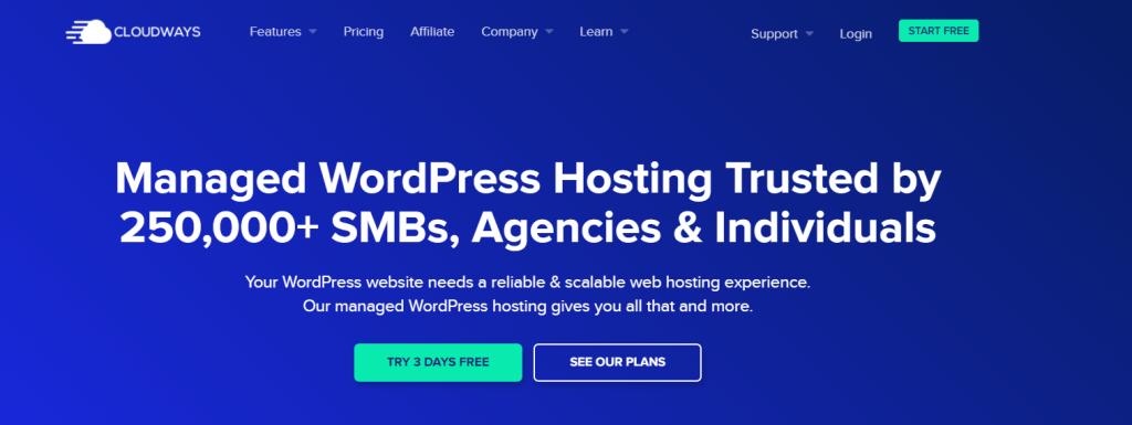 Cloudways managed wordpress hosting