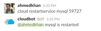 cloud restartservice mysql