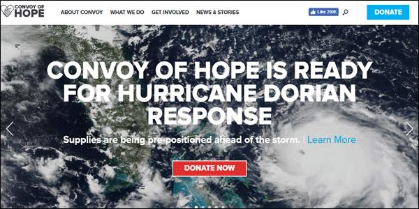 Convoy Of Hope Non-profit website