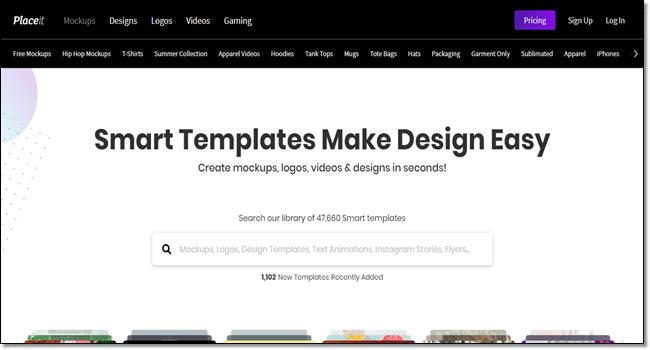 Place it mockup design tool