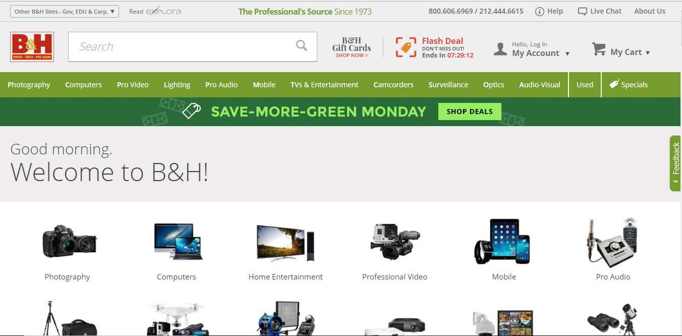 Top Ecommerce Site - B&H Photo Video