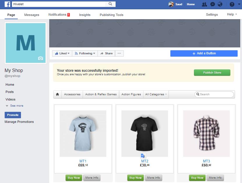 Visit Facebook Store