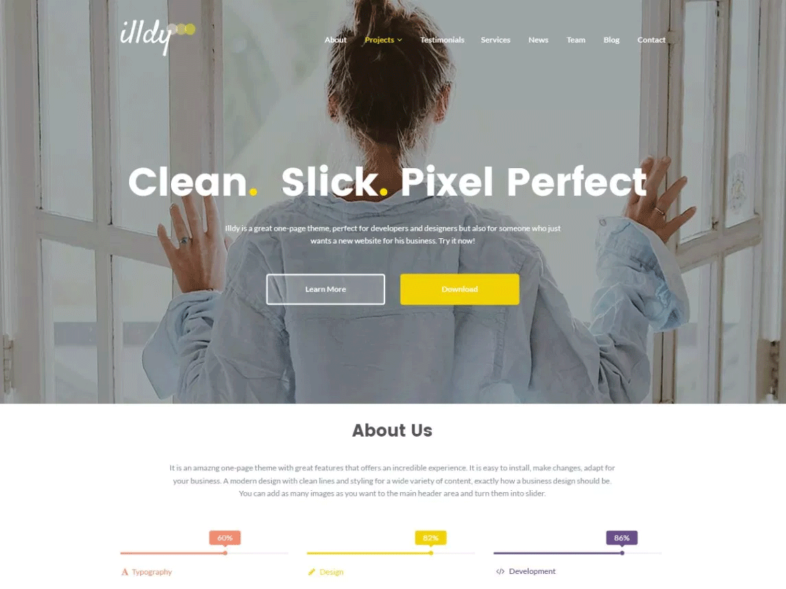 Illdy small business WordPress theme