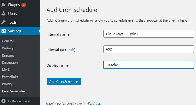 add cron schedule