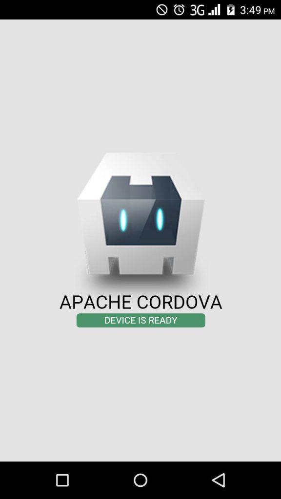 running cordova app on android