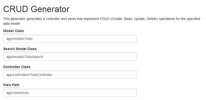 CRUD Generator