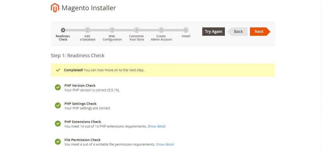 Magento 2 Installer Started