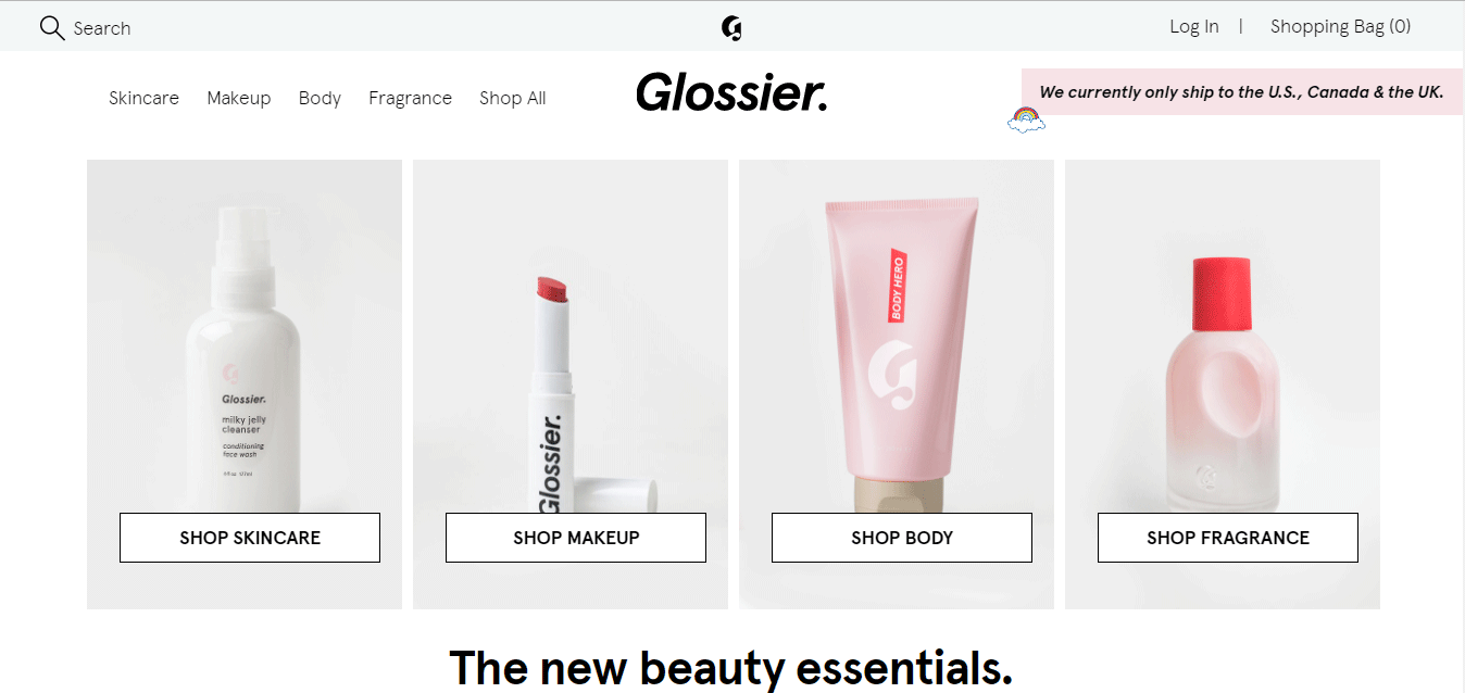 Top Ecommerce Site - Glossier