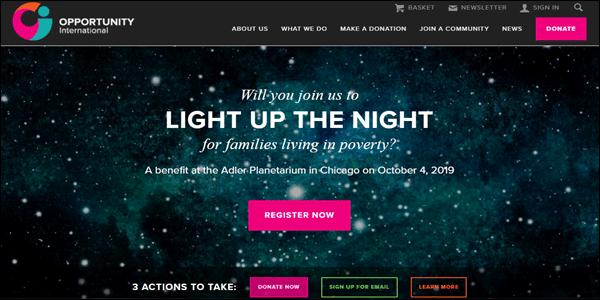 Opportunity Non-profit website