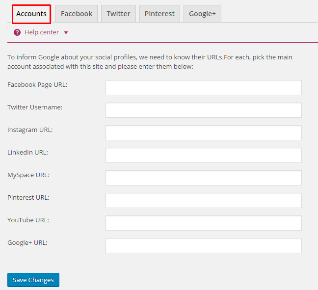 Yoast Social Accounts