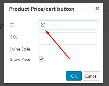 cart button popup