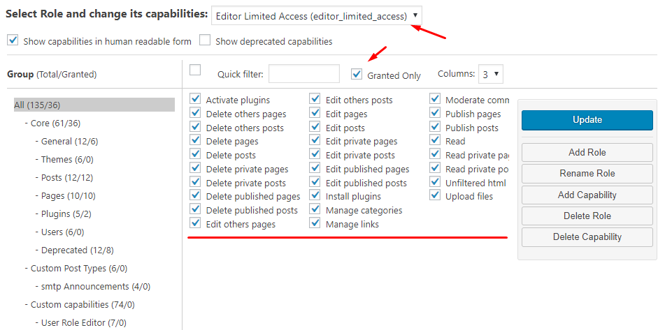 editor limited access