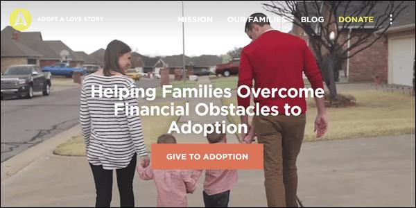 Adapt Non-profit website