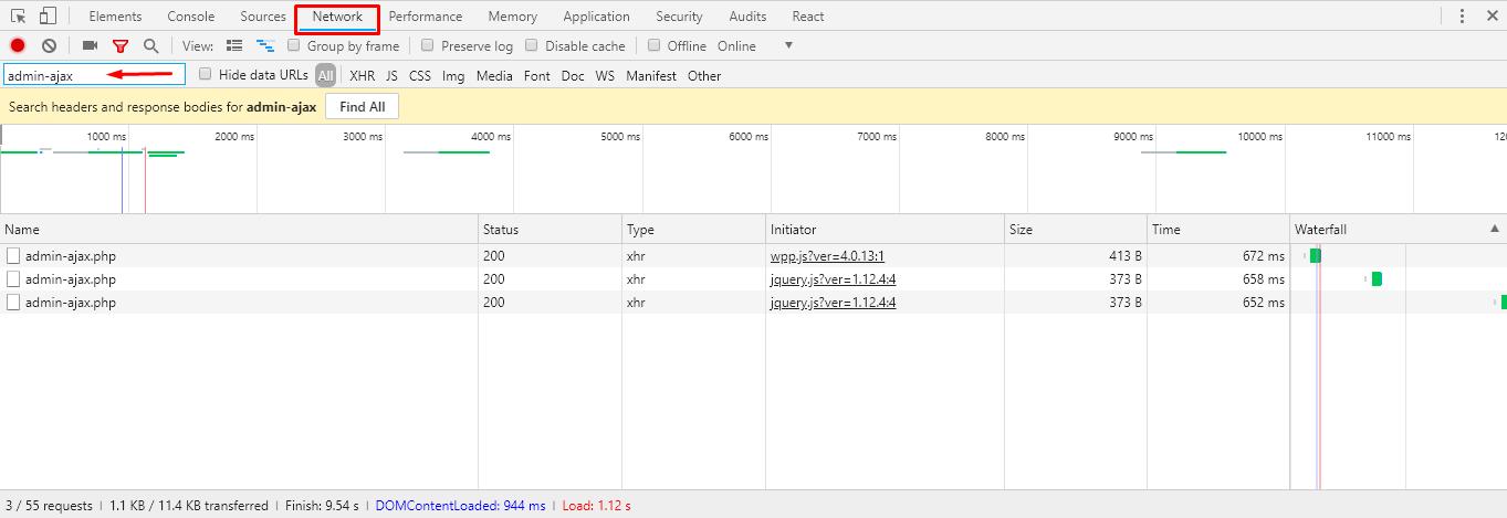 developer tool network