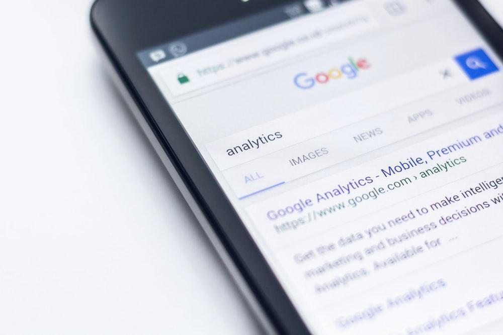 Google Analytics of a Smartphone