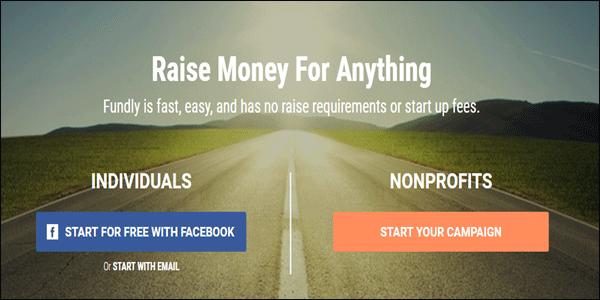Fundly Non-profit website