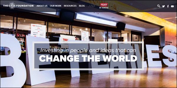 Case Foundation Non-profit websites