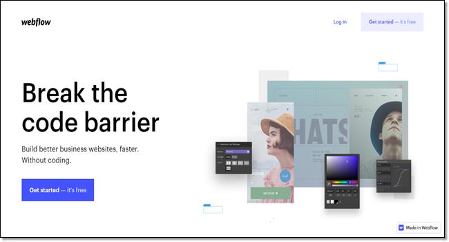 Webflow design tool