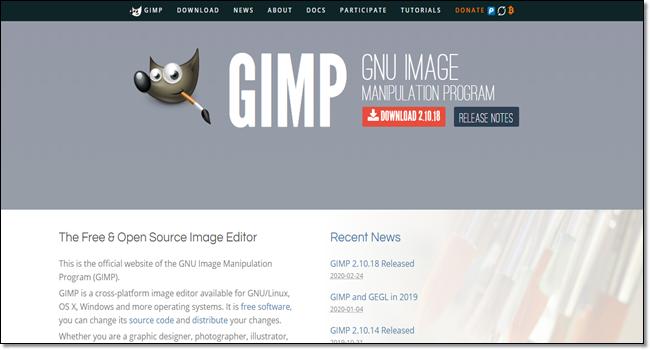 GIMP design tools