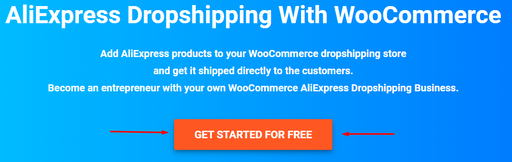 Sign up for WooDropship