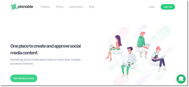 Planable social media agency tool