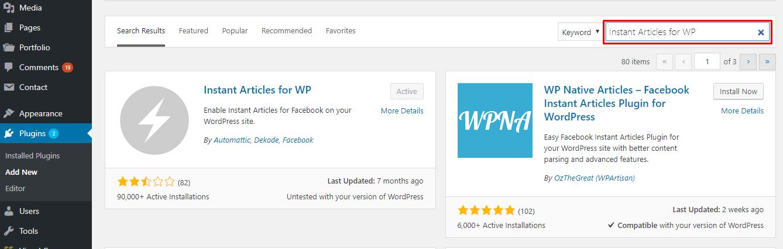 WP Instant Article plugin