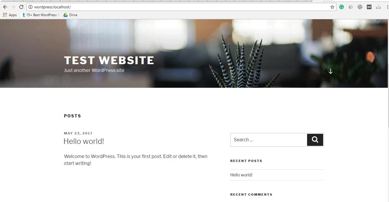 Virtual Host Result