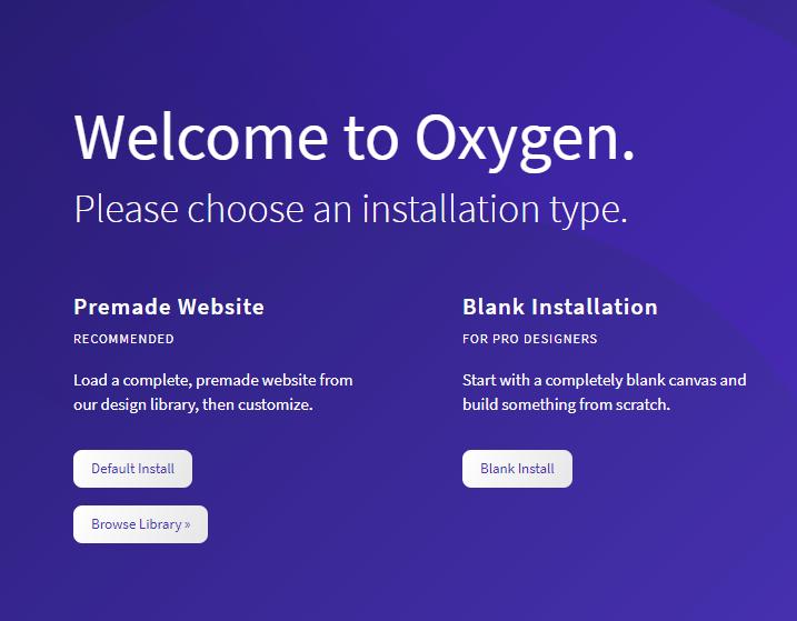 oxygen WordPress page builder installation