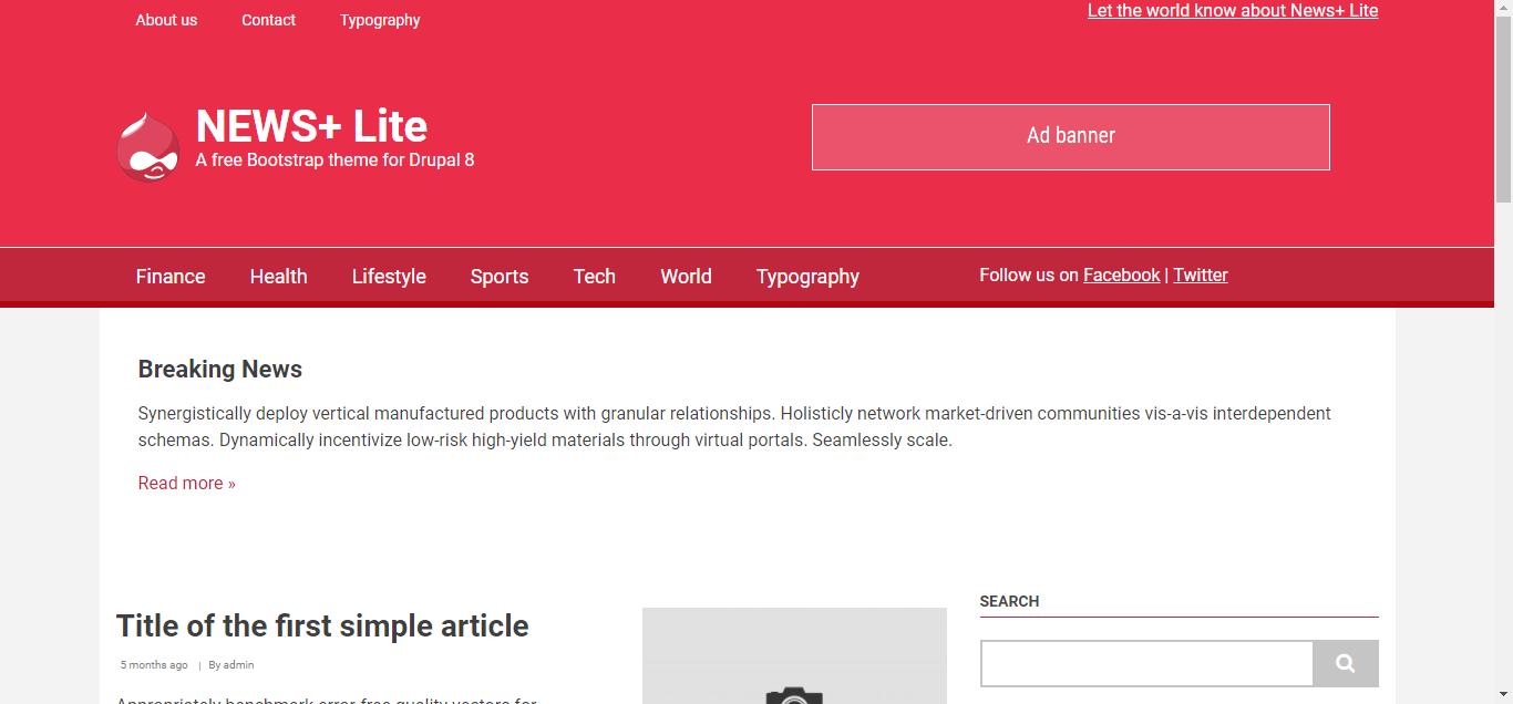 news+ drupal theme