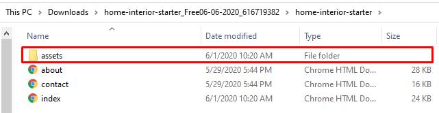 html folders