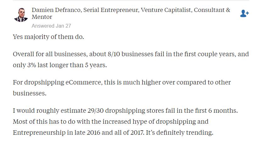 opinião de especialistas em dropshipping no Quora