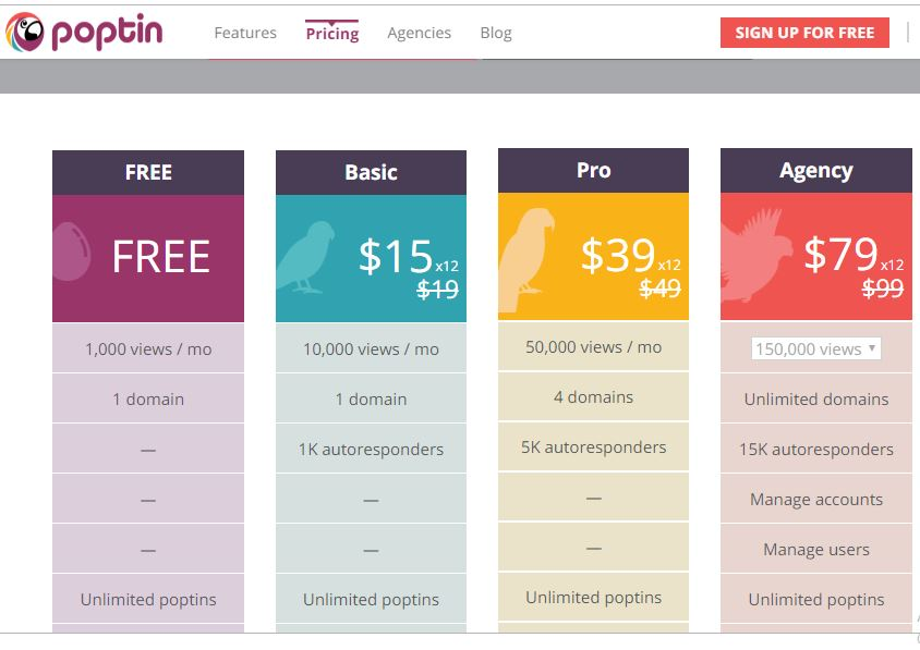 Poptin Pricing Strategy Example