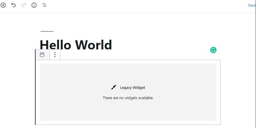 legacy widget drawer