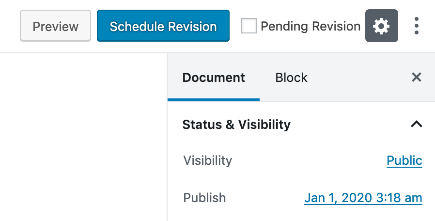 Schedule Revision