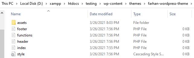wordpress folders and files