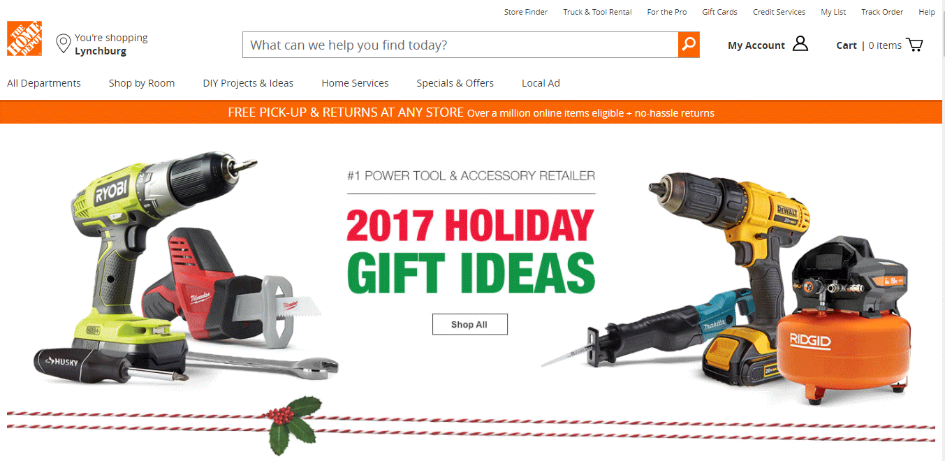 Top Ecommerce Site -THE HOME DEPOT