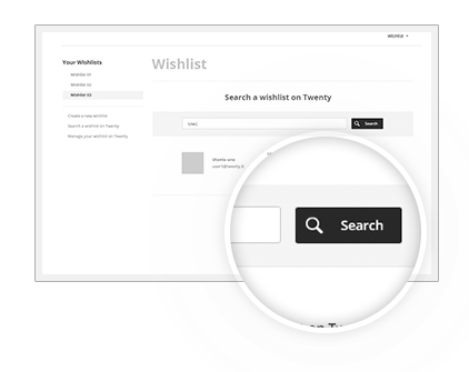 Search Wishlist