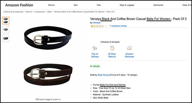 Optimize product description for Search Engines