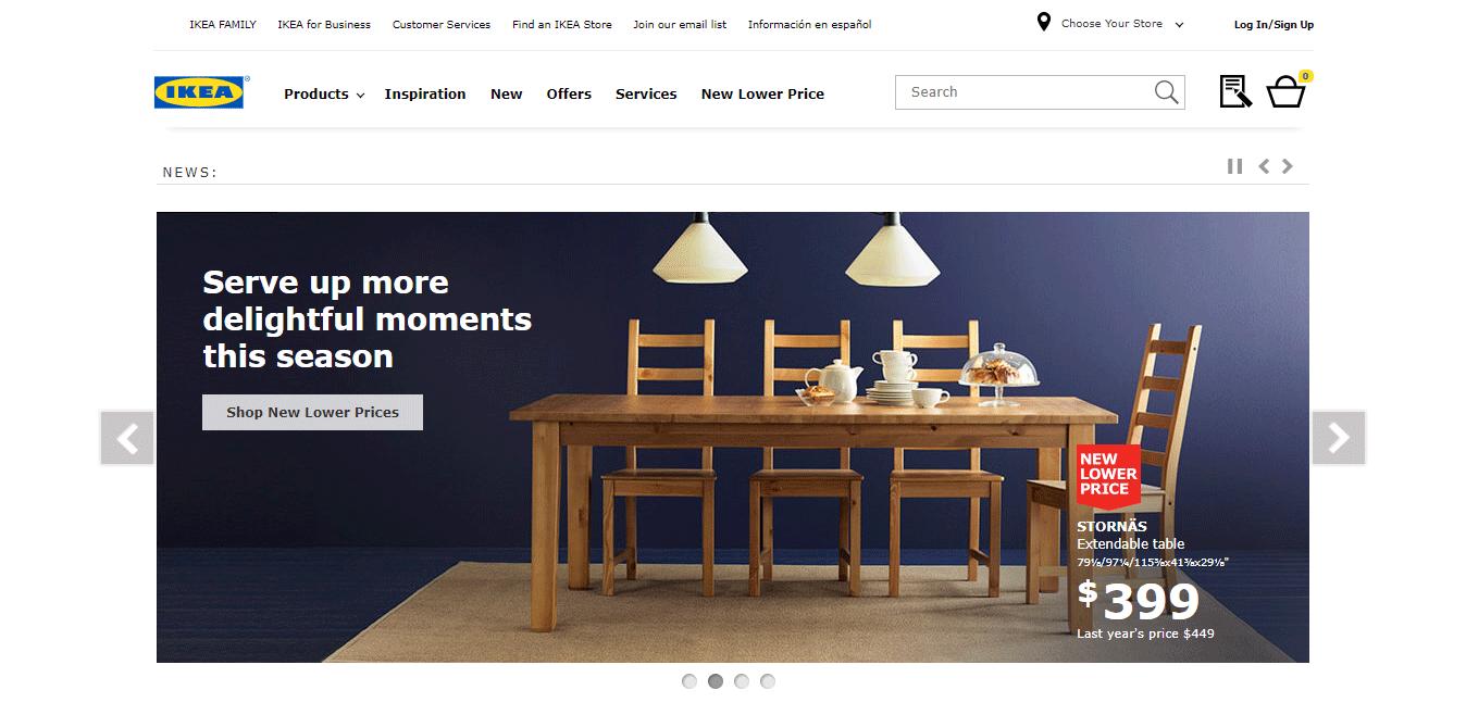 Top Ecommerce Site - IKEA