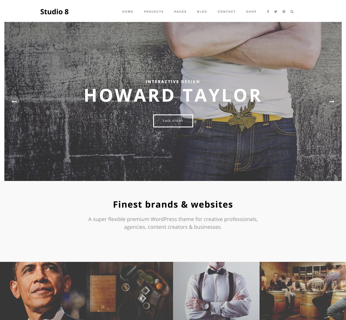 Studio8 WordPress themes for startups