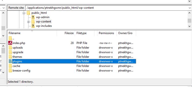 deactivating plugins
